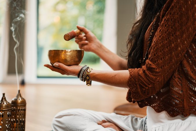 Incense and singing bowl - by Conscious Design